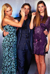 Left to right: Jessica Dunphy, Agim Kaba (Aaron), and Peyton List (Lucy)