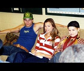 Left to right: Agim Kaba (Aaron), Peyton List (Lucy), and Jessica Dunphy