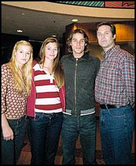 Left to right: Jessica Dunphy, Peyton List (Lucy), Agim Kaba (Aaron), and Jon Hensley (Holden)