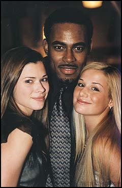 Left to right: Peyton List (Lucy), Lamman Rucker (ex-Marshall), and Jessica Dunphy